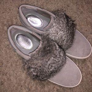 Micheal Kors flat fur shoes